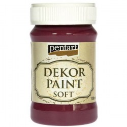 Decor Soft Paint 100ml Pentart - Burgundy Red