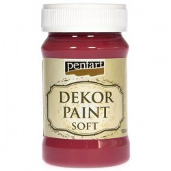 Dekor Soft Paint 100ml Pentart - Cardinal Red
