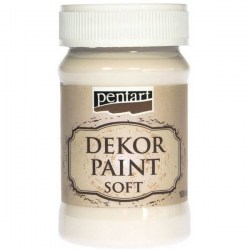 Dekor Soft Paint 100ml Pentart - Cream White