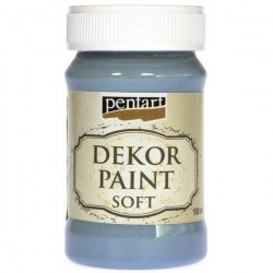 Decor Soft Paint 100ml Pentart - Flax Blue