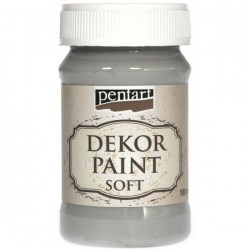 Dekor Soft Paint 100ml Pentart - Grey
