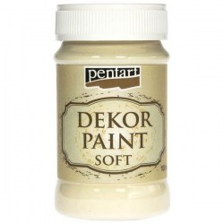 Dekor Soft Paint 100ml Pentart - Ivory