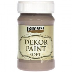Dekor Soft Paint 100ml Pentart - Milk Chocolate