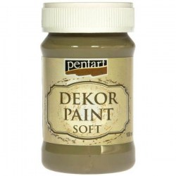 Decor Soft Paint 100ml Pentart - Olive