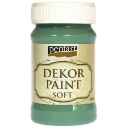 Dekor Soft Paint 100ml Pentart - Turquoise-green
