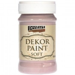 Decor Soft Paint 100ml Pentart - Victorian Pink