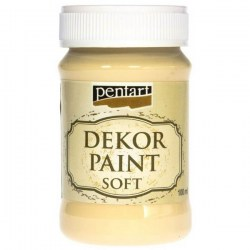 Decor Soft Paint 100ml Pentart - Yellow