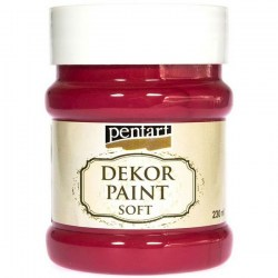 Dekor Soft Paint 230ml Pentart - Cardinal Red