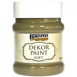 Dekor Soft Paint 230ml Pentart - Olive