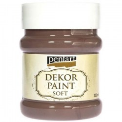 Dekor Soft Paint 230ml Pentart - Brown
