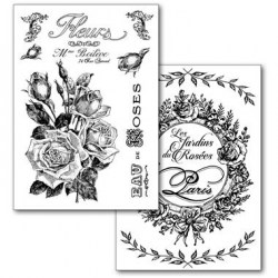 Transfer Paper Stamperia A4  Roses and Garland  - 2 τεμ.